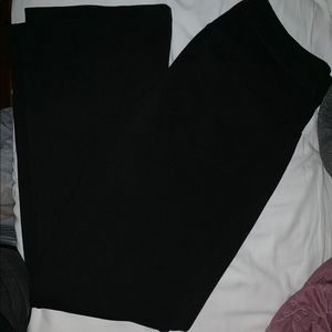 Black Bootcut soft slacks